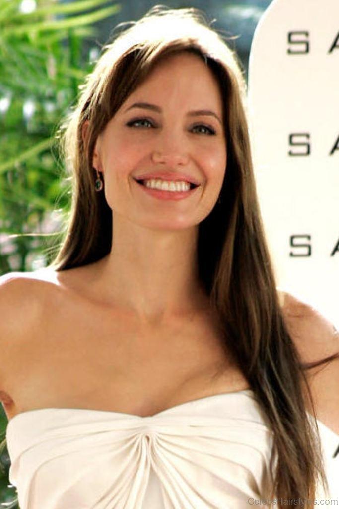 Angelina Jolie Straight Hair